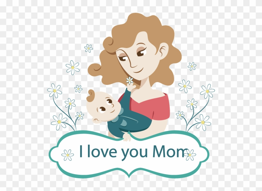 Transparent Mother S Day Clipart - Love You Mom Clipart, HD Png Download ,  Transparent Png Image - PNGitem
