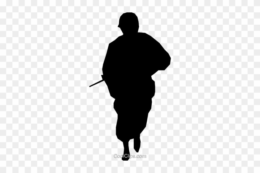 Soldier Symbol Royalty Free Vector Clip Art Illustration - Kid Running Shadow #904886