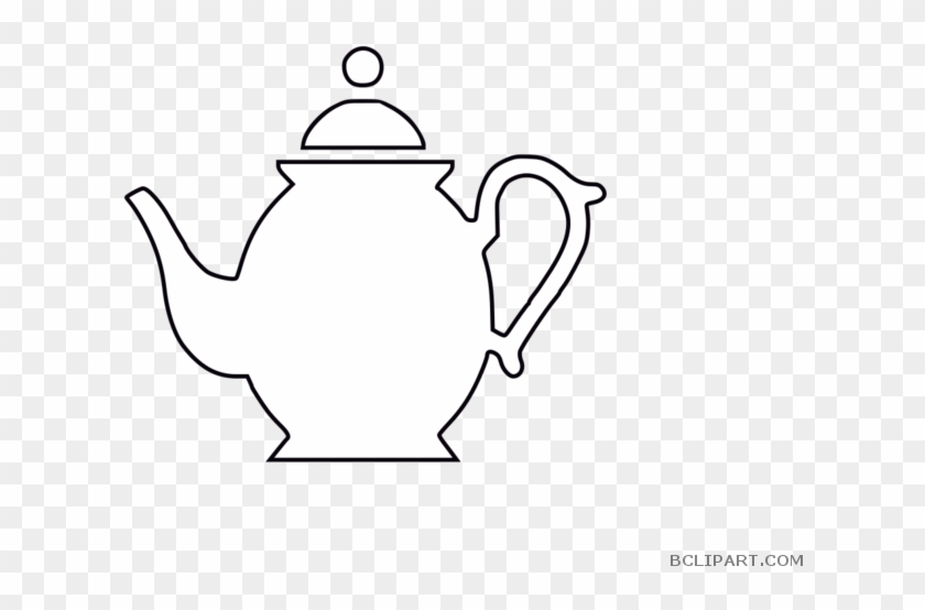 Teapot Outline Tools Free Clipart Images Bclipart - Tea Solves Everything Embroidery Design #905007