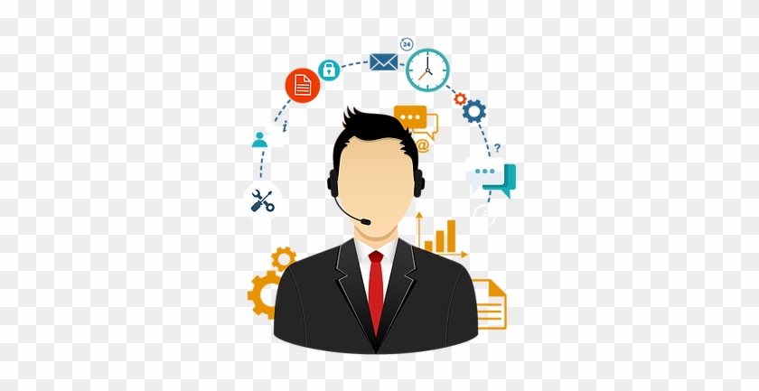 Business Clipart Marketing - Dedicated Support Icon #905292