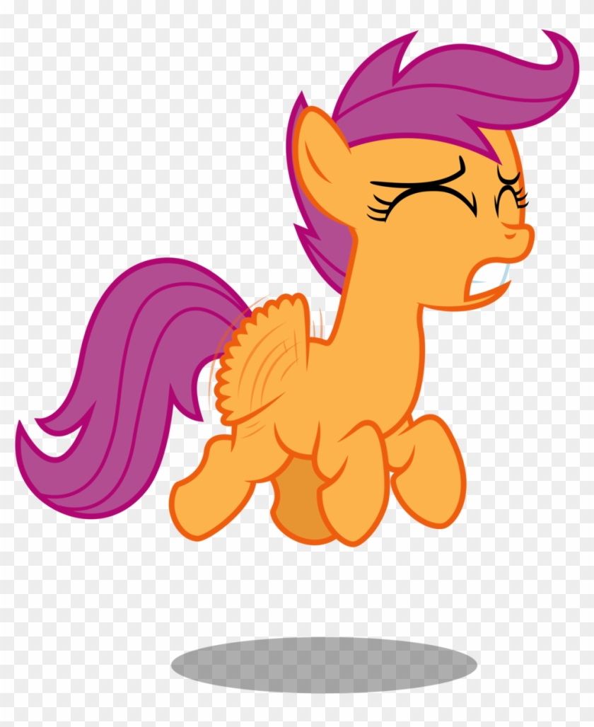 Scootaloo Trying To Fly By Bobsicle0 My Little Pony Scootaloo Flying Free Transparent Png Clipart Images Download Most of the fillies we've seen flying have been significantly bigger than scootaloo, and therefore likely older. little pony scootaloo flying
