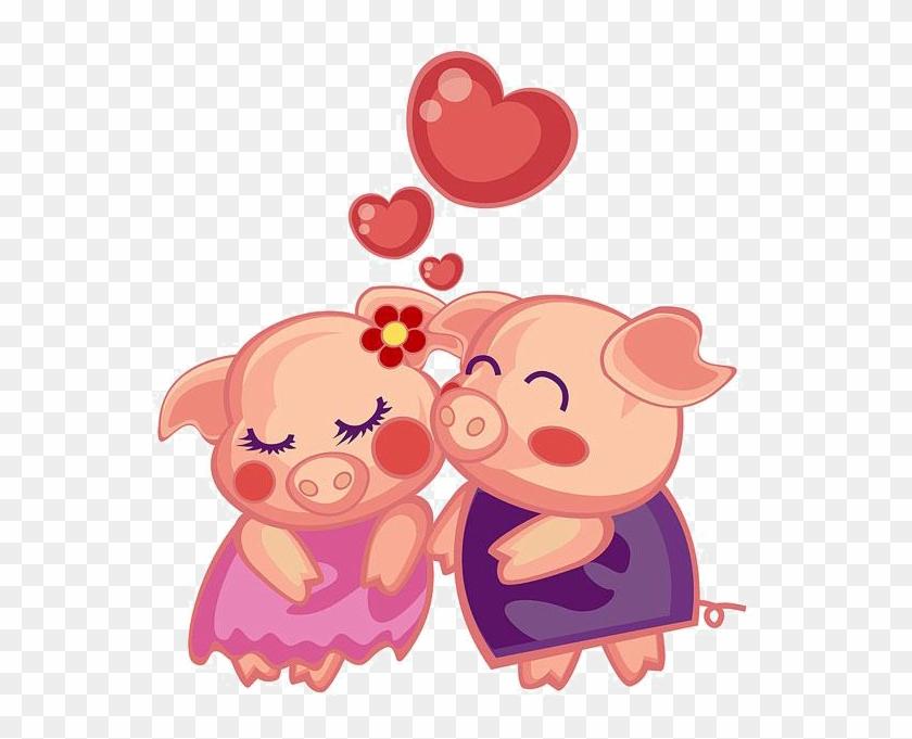 Domestic Pig Porky Pig Miss Piggy Cartoon - Pig Couple Cartoon #906129