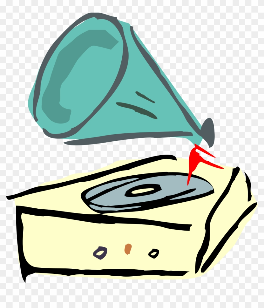 45 Rpm Record Clipart, Vector Clip Art Online, Royalty - Vinyl Record Player Clipart #18070