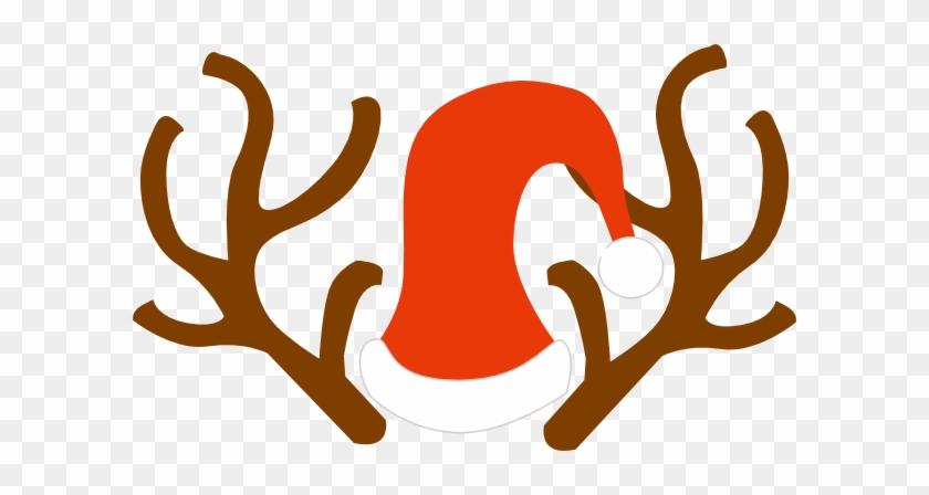 Rudolph Ears Clip Art At Vector Clip Art - Reindeer Ears Clipart #18068