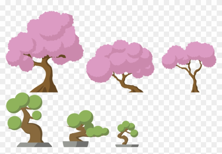 Japanese Trees By Android272 - Japan Tilesets #18093