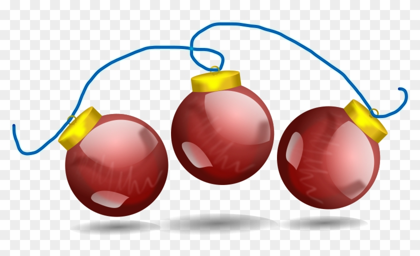 Christmas Clipart - Christmas Ornaments On A String #18130