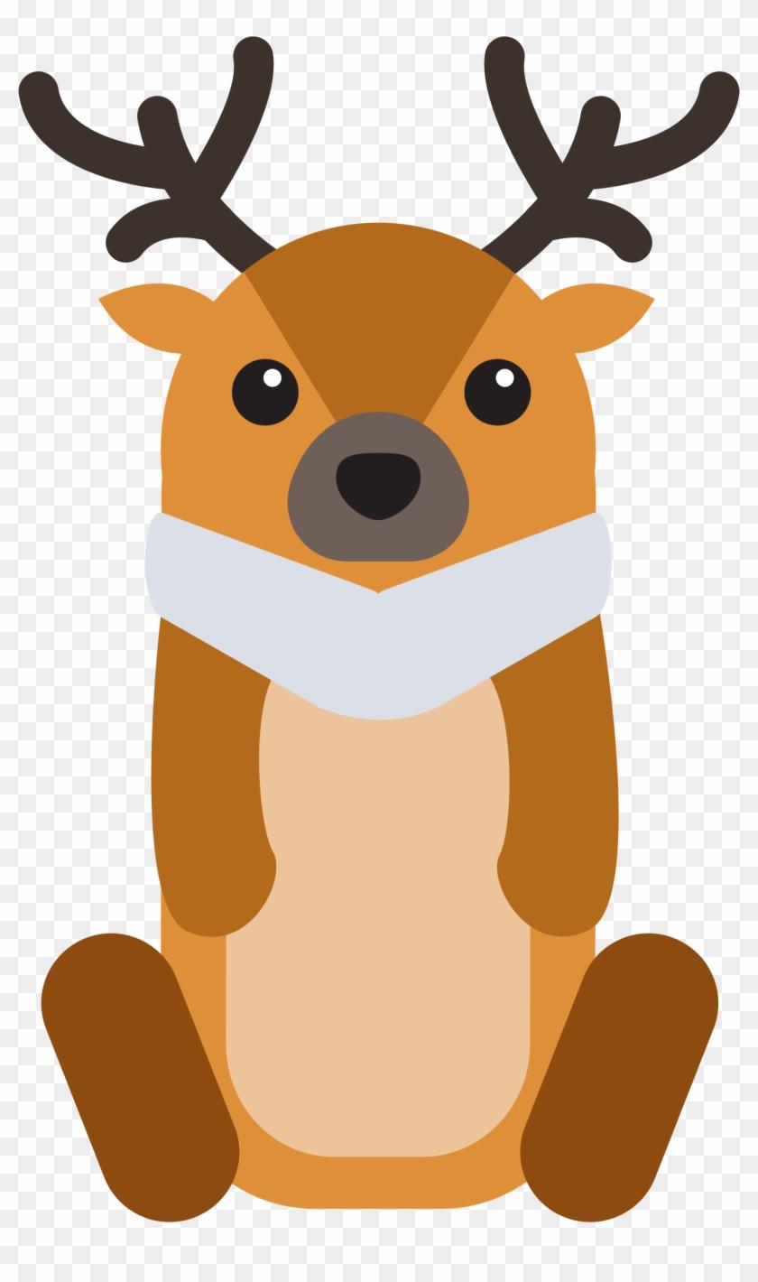 Clipart Baby Deer - Cartoon Deer Png #18146
