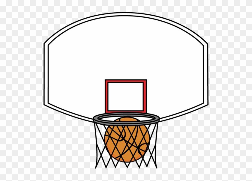 Basketball Backboard And Ball - Basketball Backboards Clip Art #18156