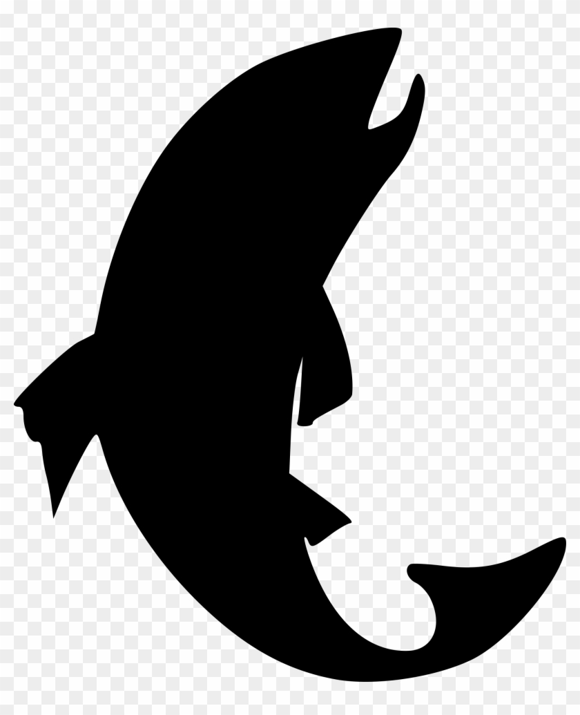 Trout Silhouette - Fish Silhouette Clipart #18165