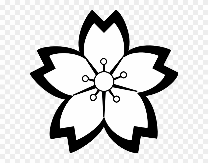 Aside From The Obvious Fact That It Is Visually Pleasing, - Sakura Flower Vector Black And White #18168