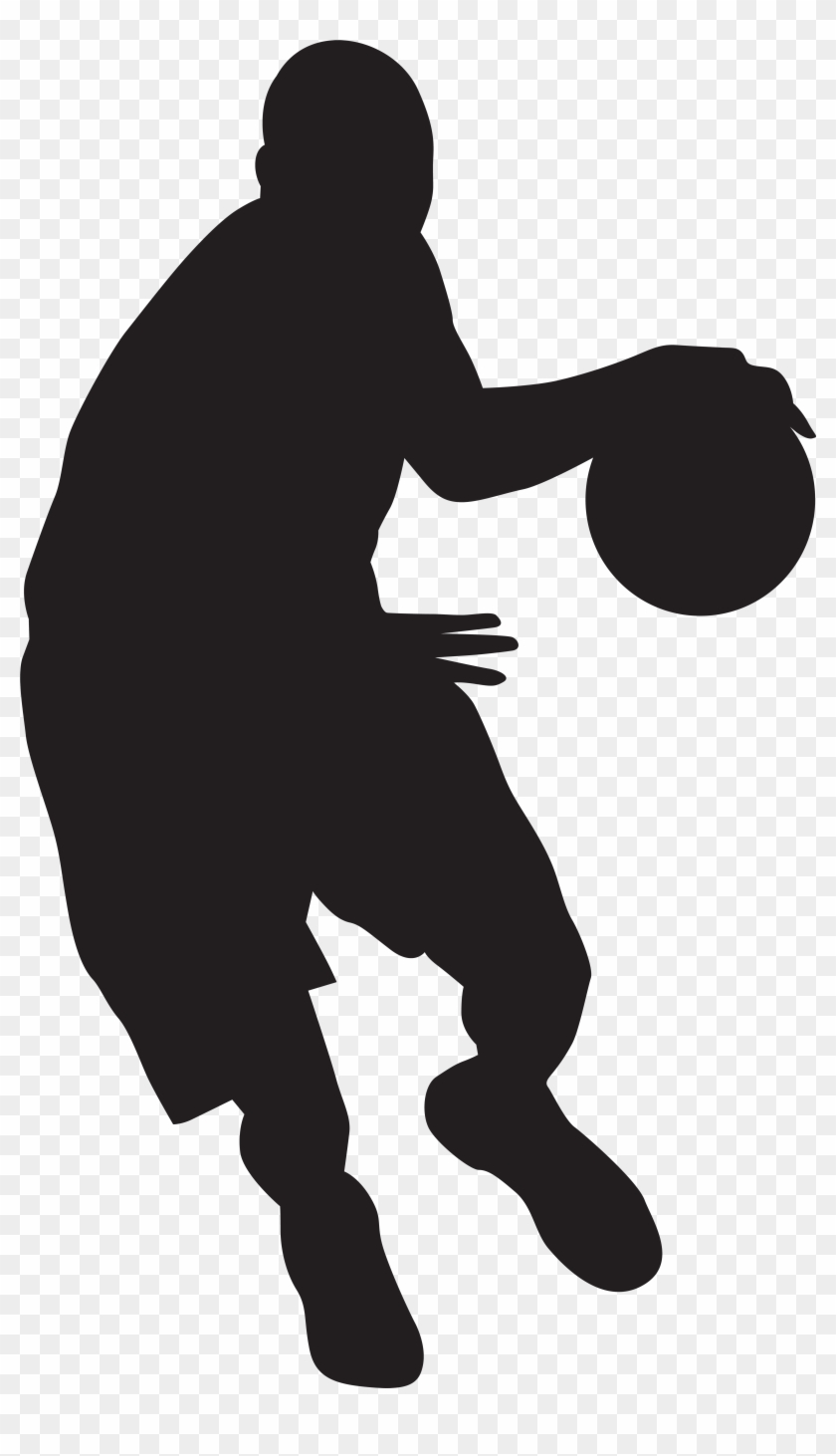 Basketball Player Silhouette Png Clip Art Imageu200b - Basketball Player Silhouette Png #18213