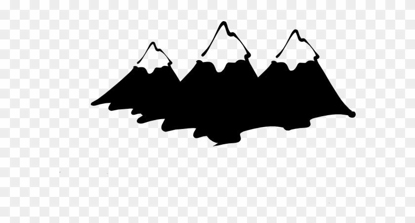 Mountain Clip Art - Mountain Clipart Black And White #18208
