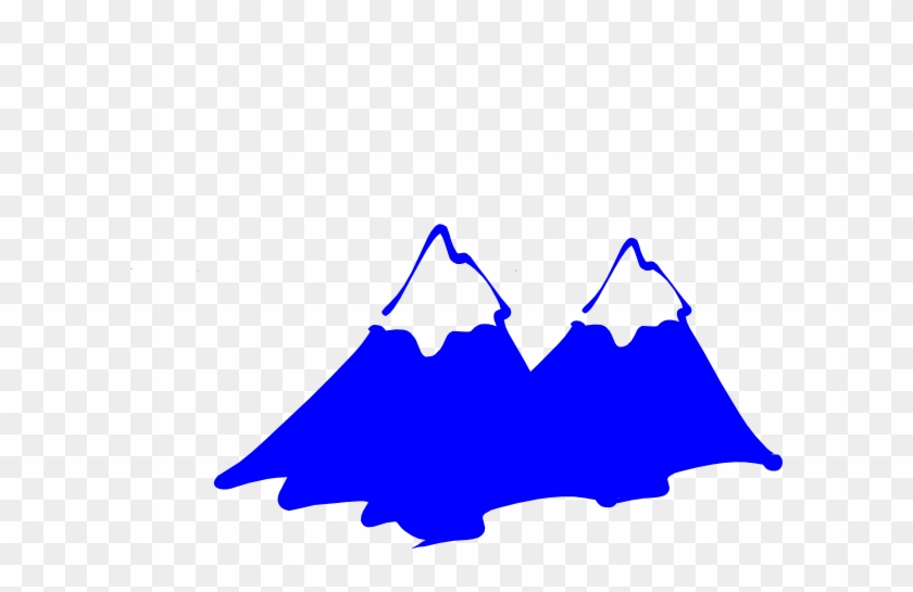 Mountain Blue Logo Clip Art At Clker - Mountains Clipart Black And White #18210