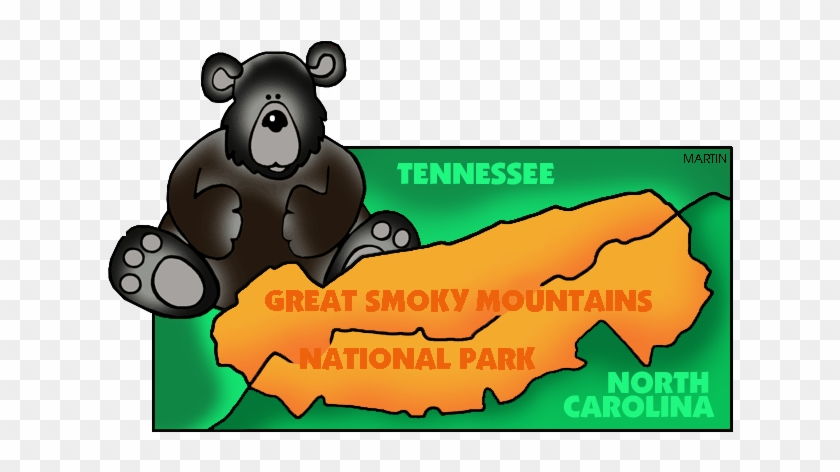 Famous Landmarks From Tennessee - Great Smoky Mountains National Park Clipart #18218