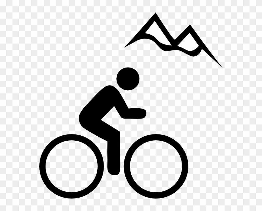 Bike Mountain Clip Art At Vector Clip Art Clipartbold - Mountainbiking Clipart #18228