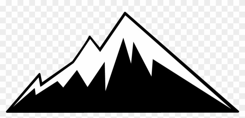 Mountain Outline Clipart Throughout Mountain Outline - Mountain Logo Vector Png #18232