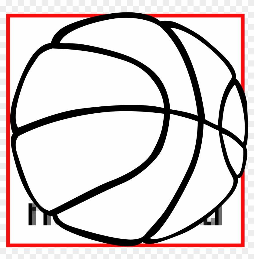 Basketball Clip Art Black White - Basketball Clip Art #18234