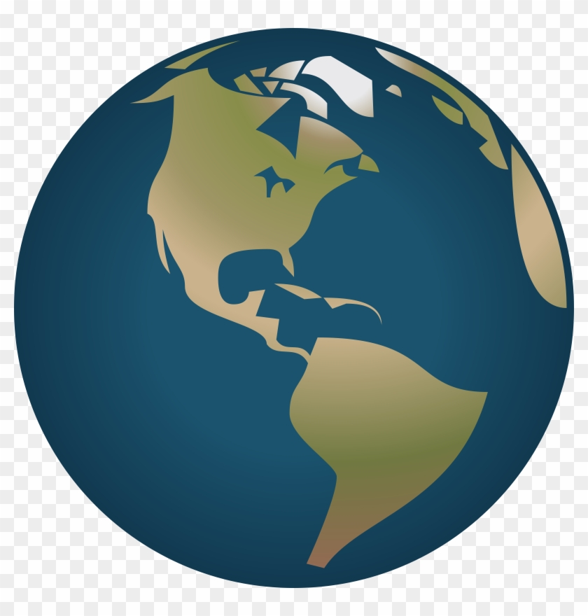 Simple Globe Clipart - Stop Global Warming Posters #18247