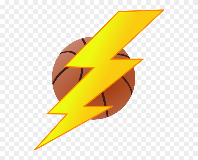 Oklahoma City Thunder Lightning Basketball Clip Art - Basketball With Lightning Bolt #18256