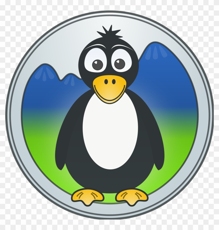 A Penguin In The Mountains Clip Art Download - Colon Cancer Penguin Throw Blanket #18272