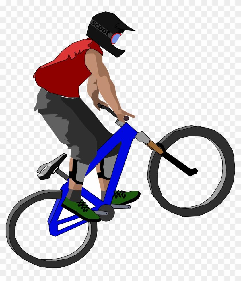 Big Image - Mountain Biker Clip Art #18275