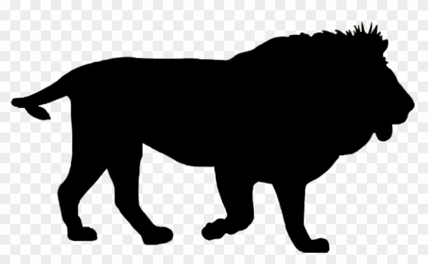 White Lion Clipart Safari Animal - Lion Silhouette Png #18279