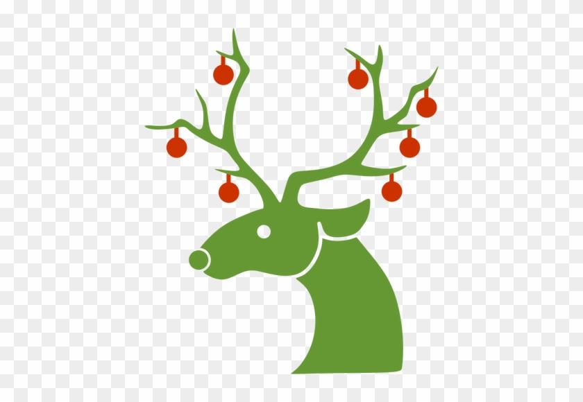 Reindeers Clipart - Reindeer Silhouette Christmas #18361