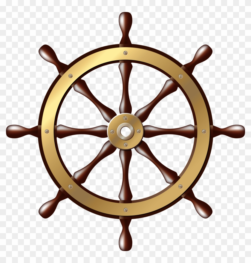 Ship Wheel Png Clip Art - Ship Wheel Png Clip Art #18427