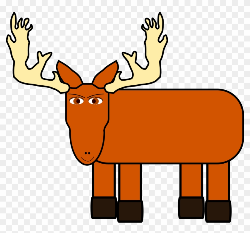 Warning Moose Roadsign Svg Vector File, Vector Clip - Cartoon Moose #18386