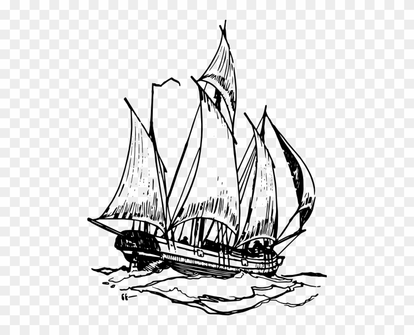 Ship Clip Art - Once Aboard The Lugger #18430