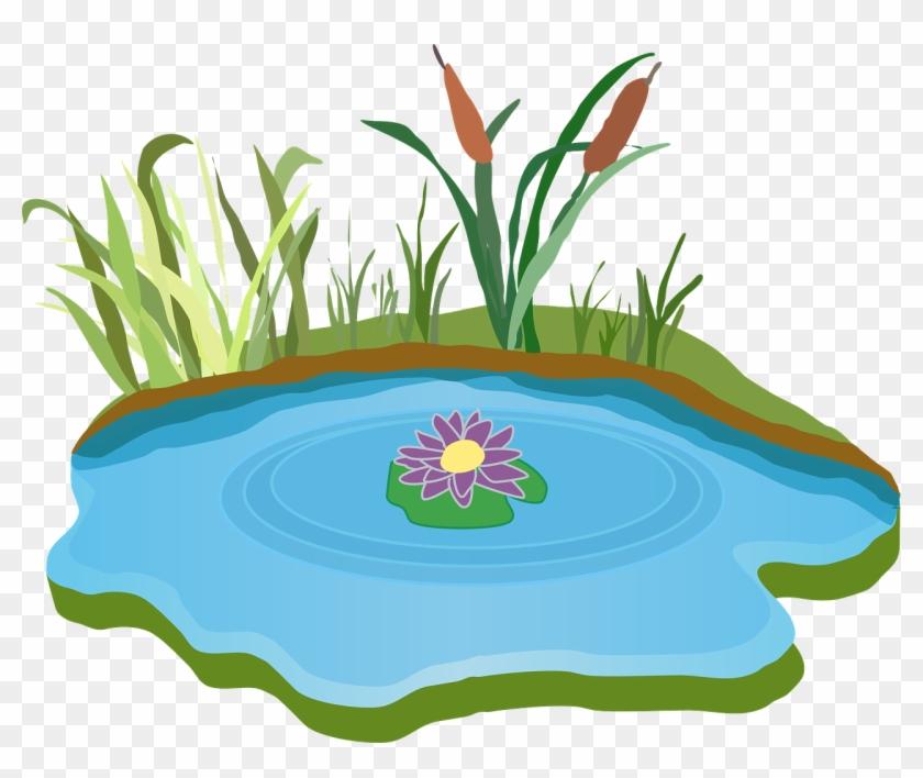 Pond Clipart Rain Water - Lake Clipart #18444