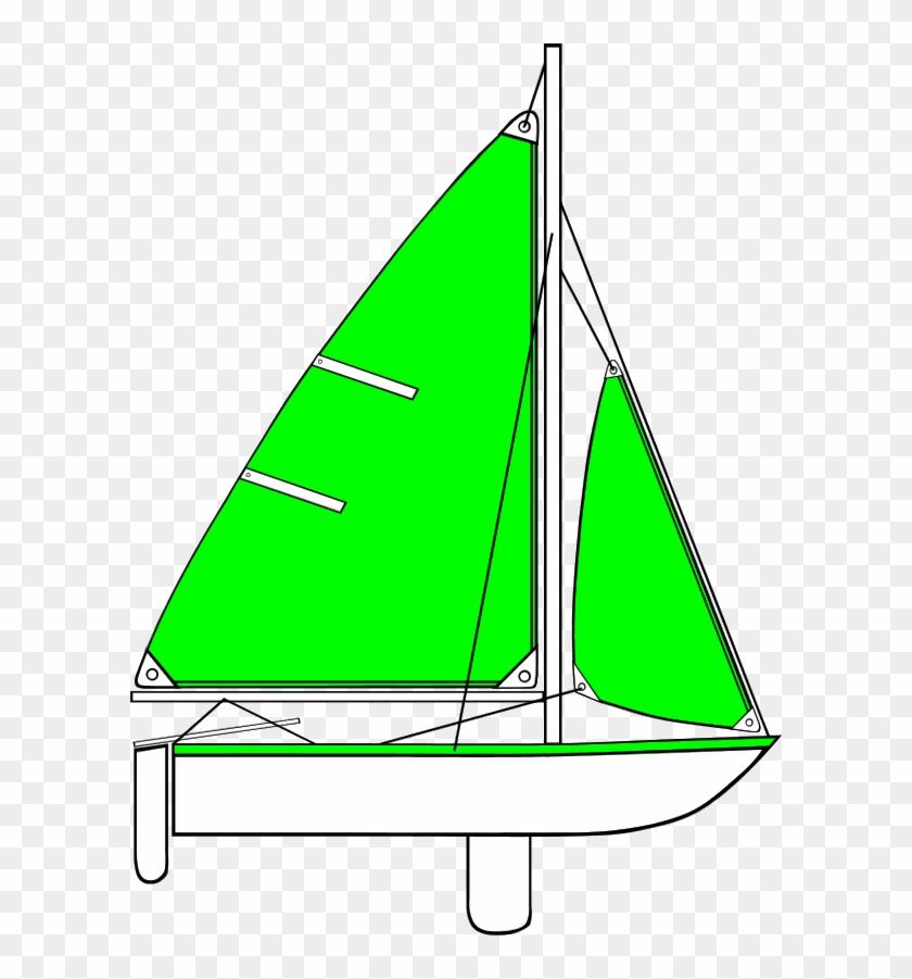 Sail Boat With Long Sail And Mast - Parts Of A Sailboat Diagram #18507