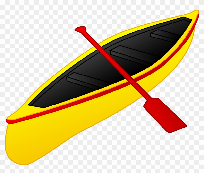 Yellow And Red Canoe - Kayak Clipart #18542