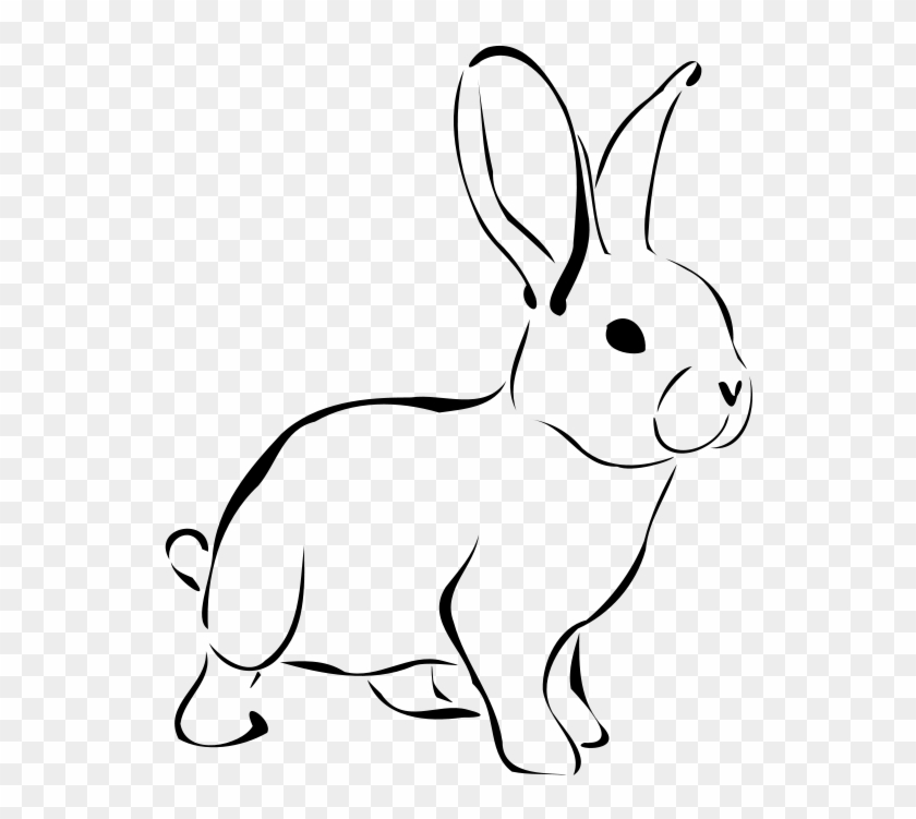 Rabbit Clip Art - Rabbit Clipart Black And White #18529