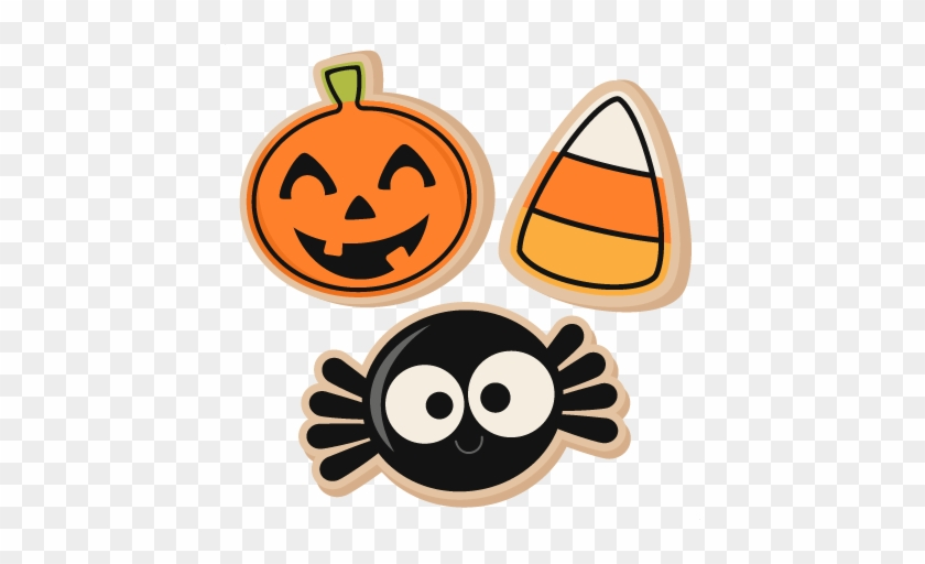 Cookie Silhouette Clipart Collection - Halloween Cookies Transparent #18532