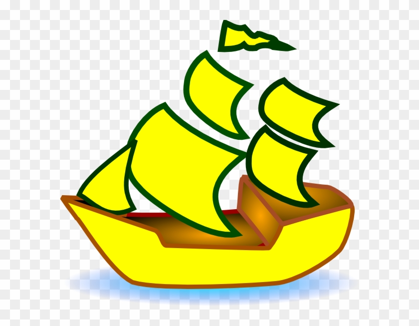 Yellow Boat Clipart #18579