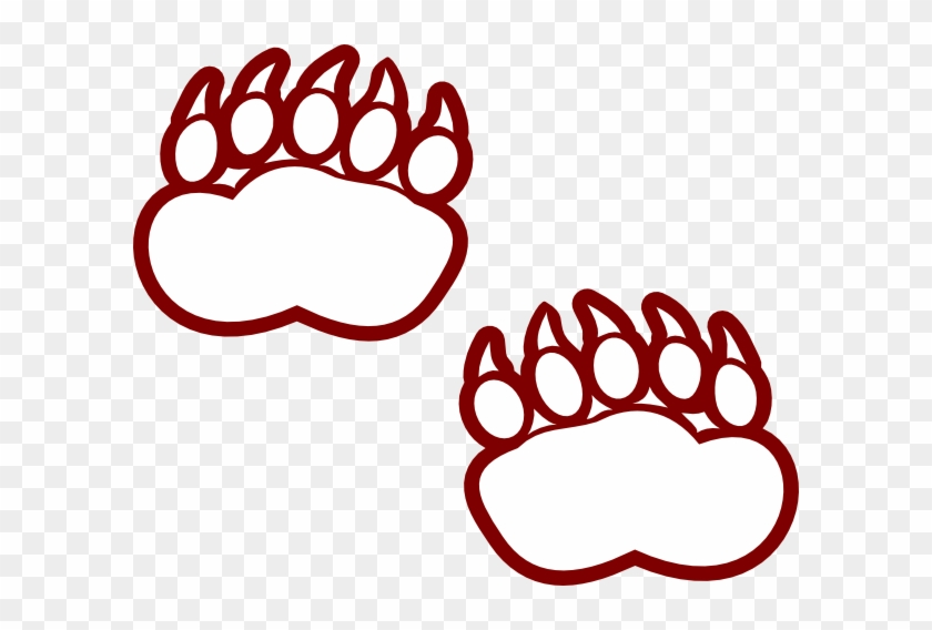 Modified Bear Paw Clip Art - Bear Track Coloring Pages #18595