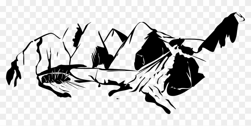 Mountain Clipart Mountains Id Pictures - Mountain Clip Art Black And White #18596