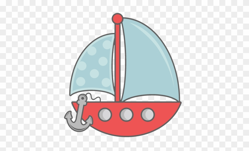 With Anchor Svg Cut Files For Scrapbooking Silhouette - Boat With Anchor Clip Art #18600