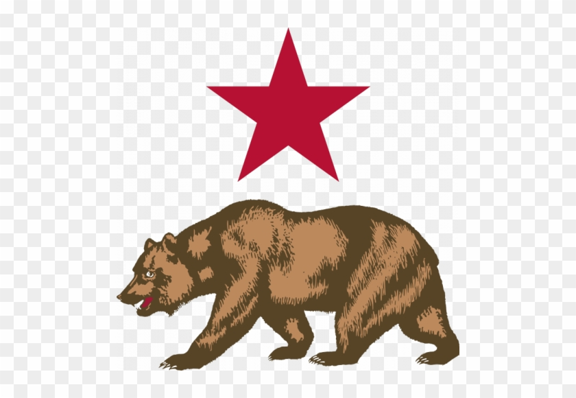 Vector Image Of Bear And Star - New California Republic Flag #18602