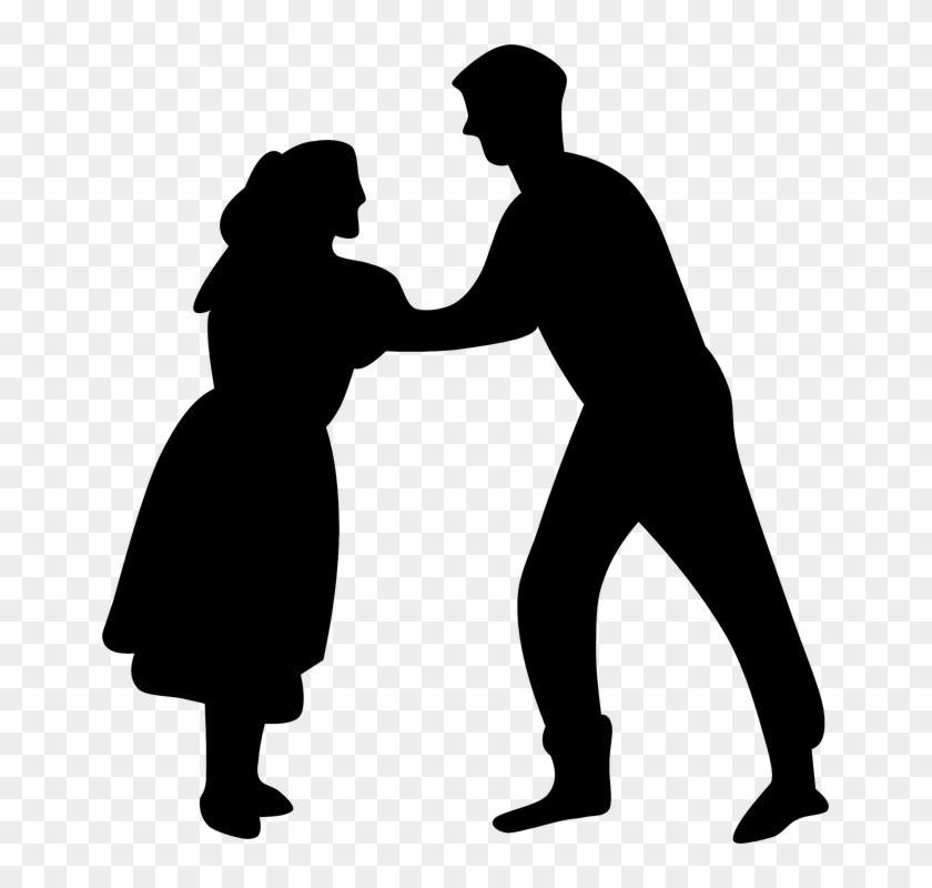 Dance, Music, People, Silhouette, Couple, Dancer - Dancing Clip Art #18607