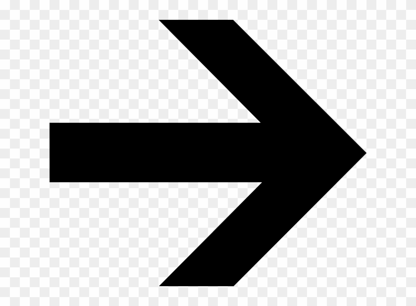 Black, Left, Right, Symbol, Arrow, Cartoon, Shapes - Right Arrow #18618