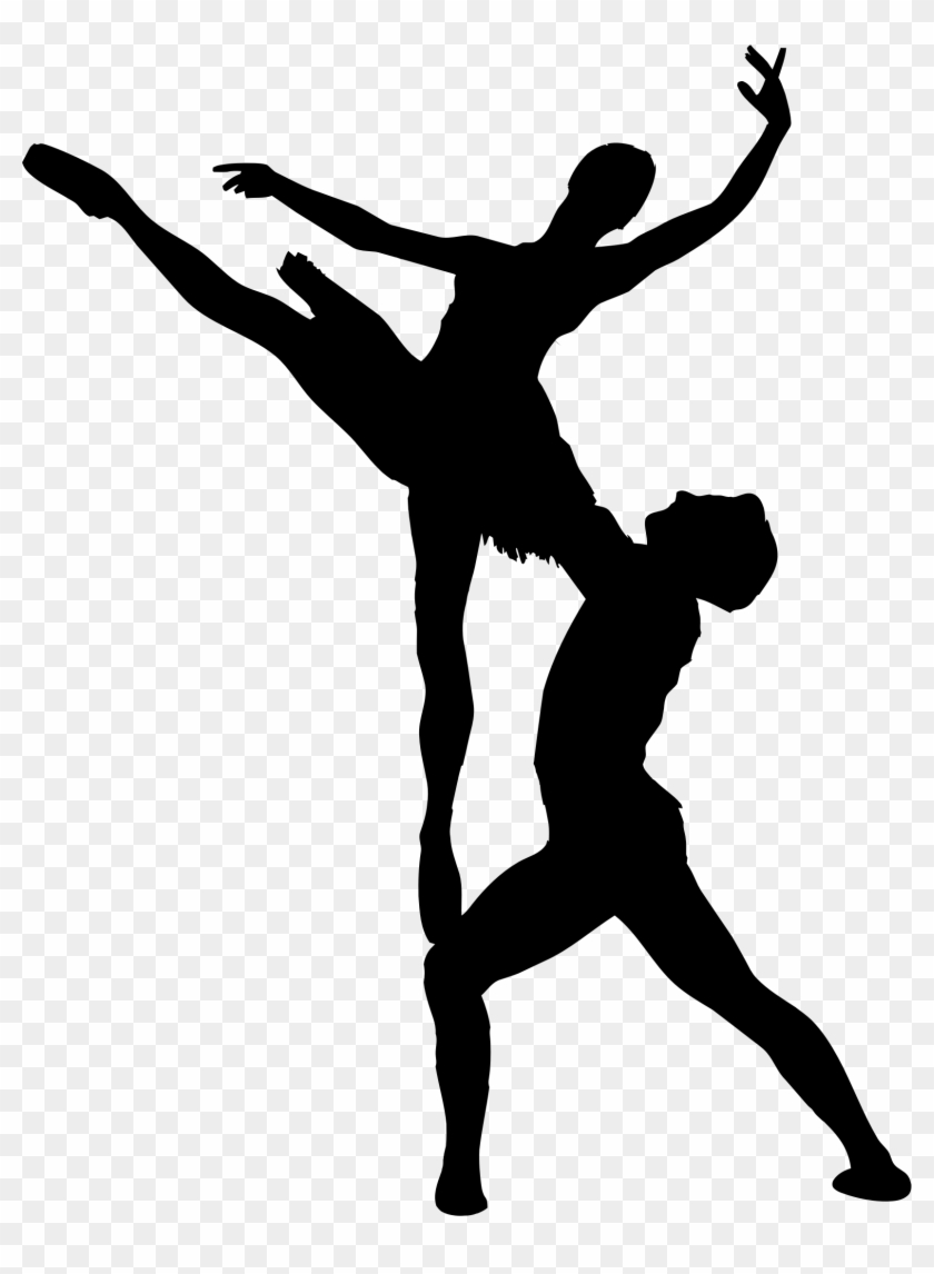 Clipart - Ballet Silhouette Png #18637