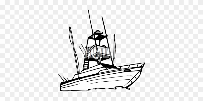 Yacht - Clipart - Yacht Clip Art Black And White #18642