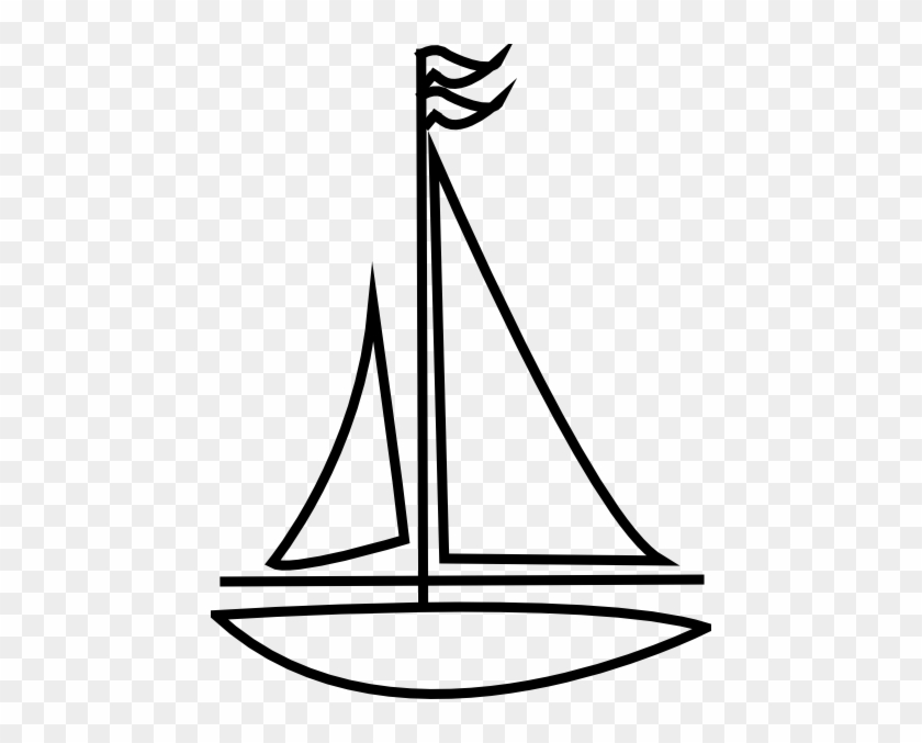 Sailing Boat Clipart Outline - Outline Images Of Sailboat #18645
