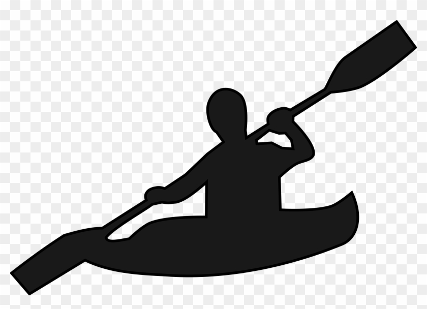 Canoe Boat Clipart Canoeing Free Download Clip Art - Kayak Clipart Black And White #18655
