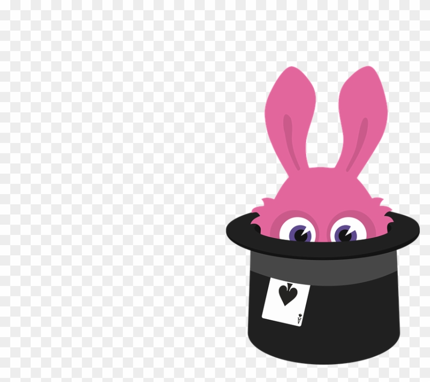 Rabbit Hat Png Photo - Bunny Out Of Hat Animated #18666
