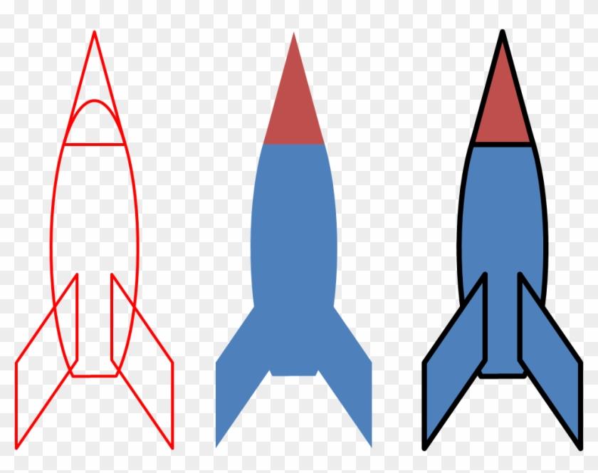Rocket Launch Shape Clip Art - Shape Of A Rocket #18668