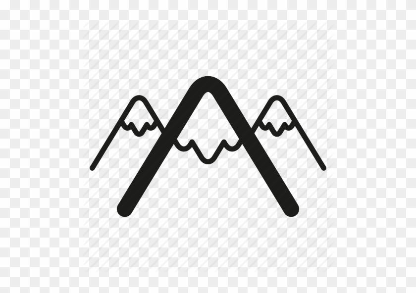 Peak Clipart Mountain Outline Pencil And In Color Peak - Mountains Icon Transparent #18667