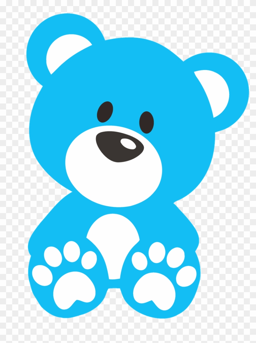 Teddy Bear Clipart Stencil - Blue Teddy Bear Clipart #18686